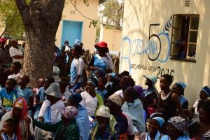 khumaga villagers enjoying the celebrations in the kgotla